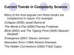 current trends in complexity science