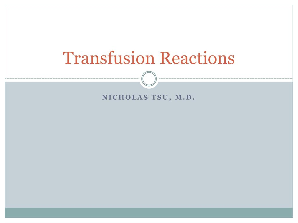 transfusion reactions l.