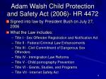 adam walsh child protection and safety act 2006 hr 4472