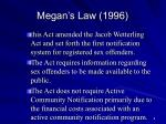 megan s law 1996