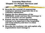 learning objectives chapter 11 people services and service quality2