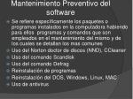 mantenimiento preventivo del software