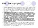 four learning styles