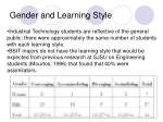gender and learning style