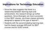 implications for technology education