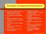 principles of supported employment