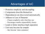 advantages of ioc