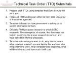 technical task order tto submittals