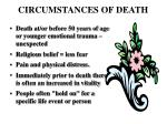 circumstances of death