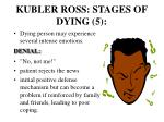 kubler ross stages of dying 5