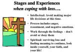 stages and experiences when coping with loss55