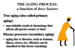 the aging process a function of three factors