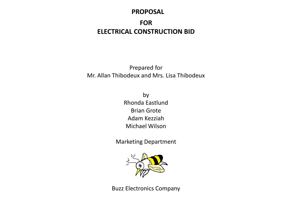 proposal for electrical construction bid l.