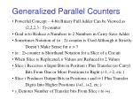 generalized parallel counters13