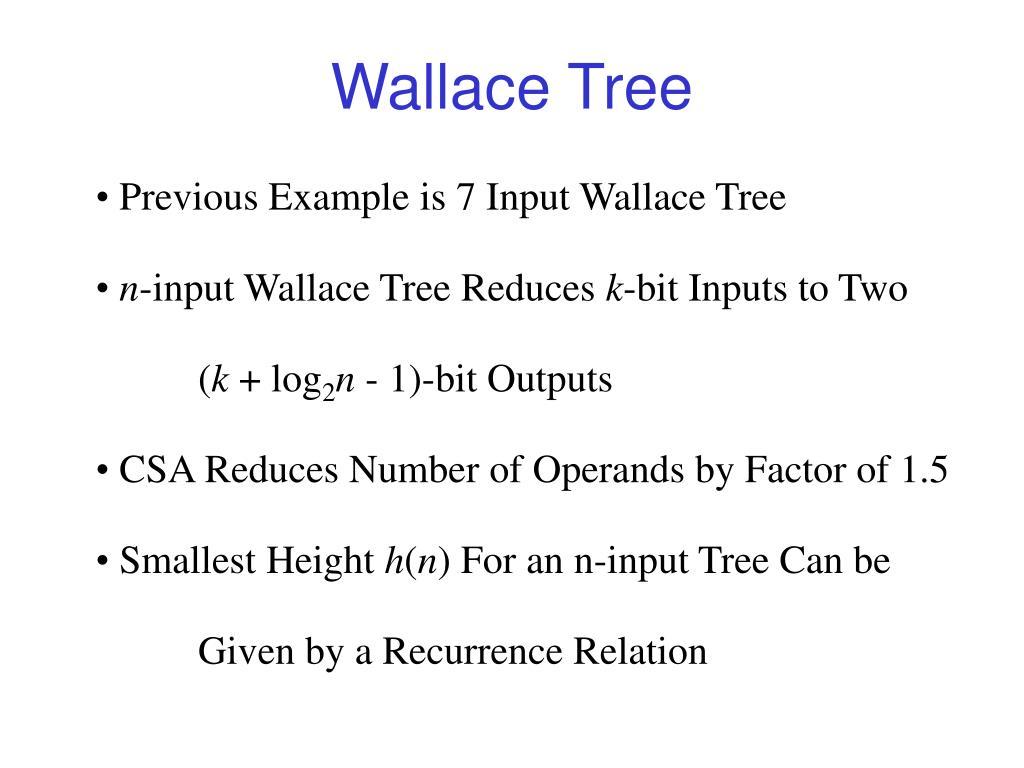 wallace tree l.