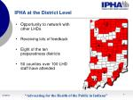 ipha at the district level