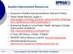 quality improvement resources