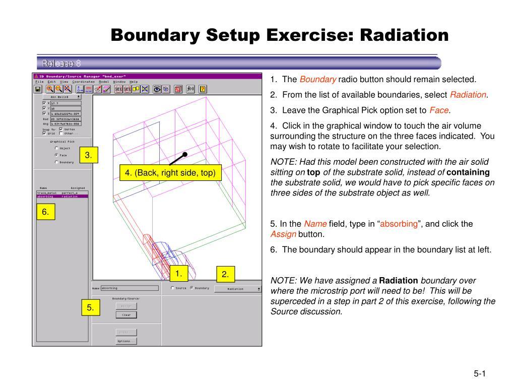 boundary setup exercise radiation l.