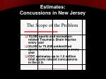 estimates concussions in new jersey