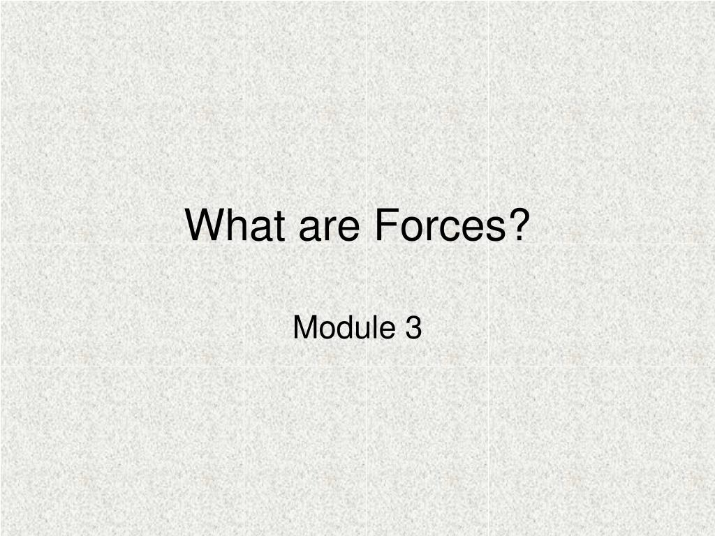 what are forces l.