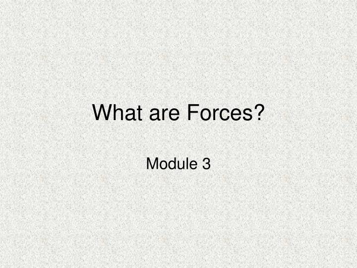 what are forces n.