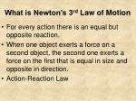 what is newton s 3 rd law of motion