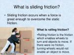 what is sliding friction