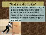 what is static friction