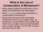 what is the law of conservation of momentum