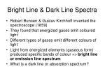 bright line dark line spectra