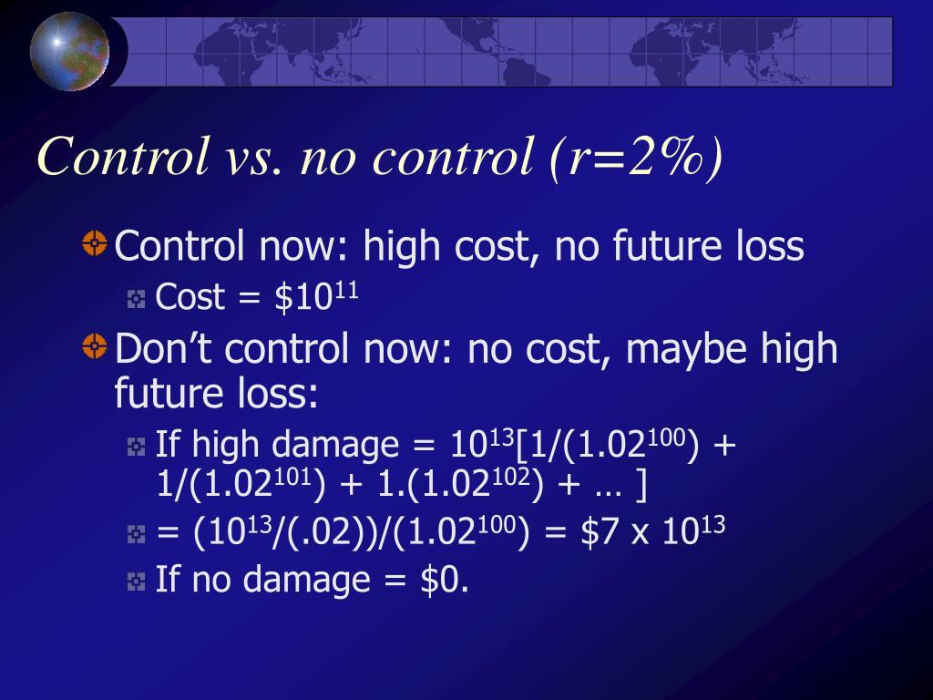 Control vs. no control (r=2%)