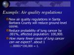 example air quality regulations