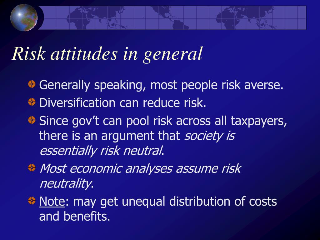 Risk attitudes in general
