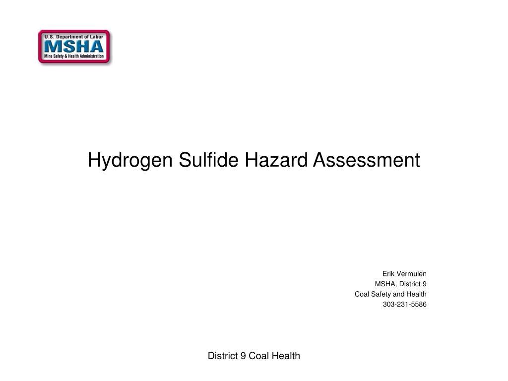 hydrogen sulfide hazard assessment l.
