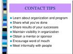 contact tips
