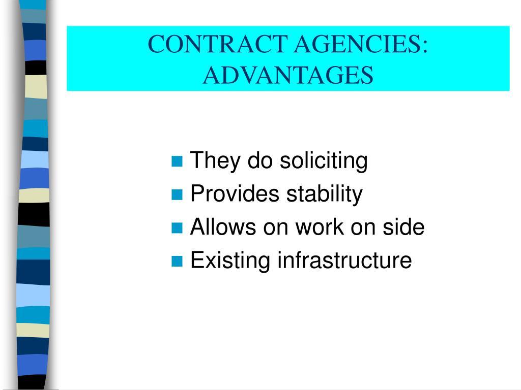 CONTRACT AGENCIES: