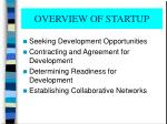 overview of startup