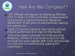 how are we compliant