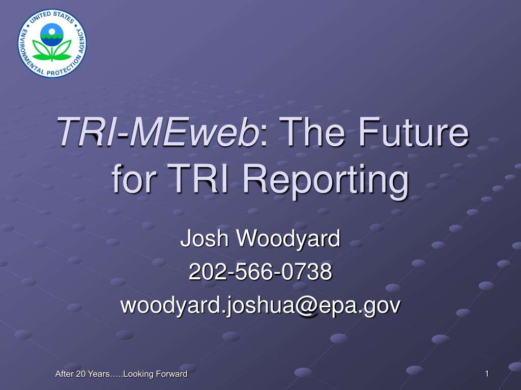 tri meweb the future for tri reporting l.
