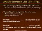 ood elevator problem case study contd32