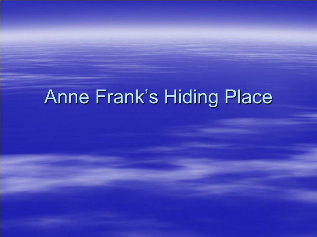 anne frank s hiding place l.