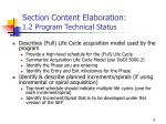 section content elaboration 1 2 program technical status
