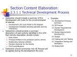 section content elaboration 2 3 1 1 technical development process