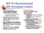 sep pg recommended sep annotated outline