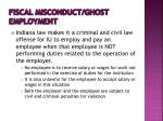 fiscal misconduct ghost employment