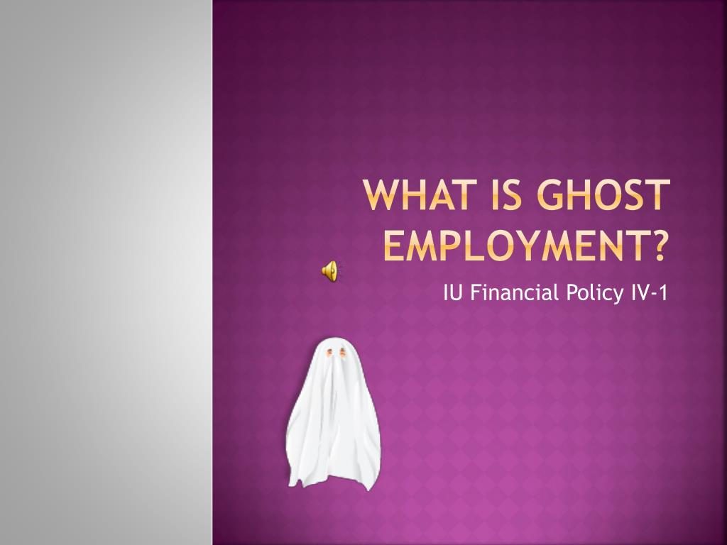 what is ghost employment l.
