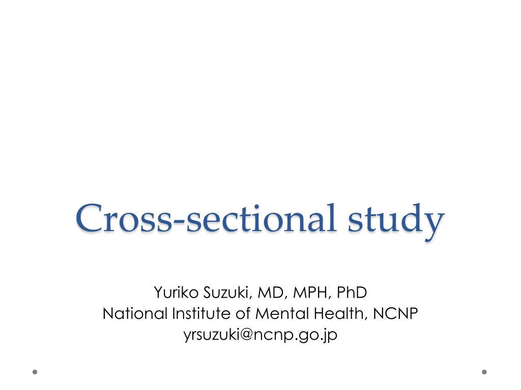 cross sectional study l.