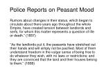 police reports on peasant mood