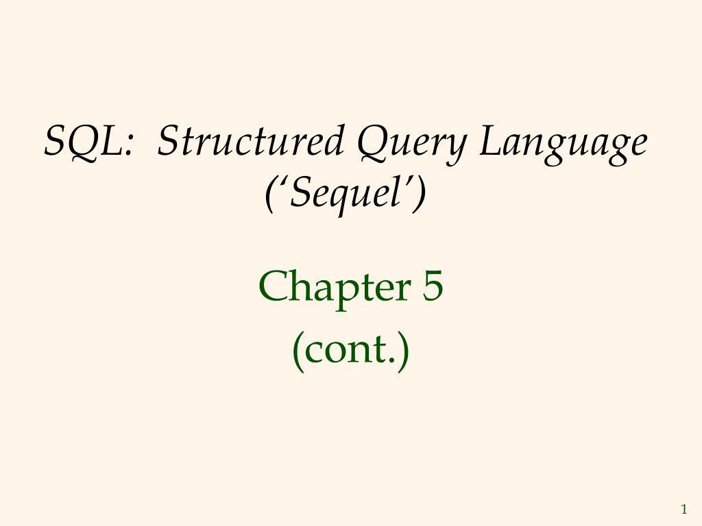 sql structured query language sequel l.