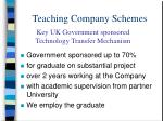 teaching company schemes